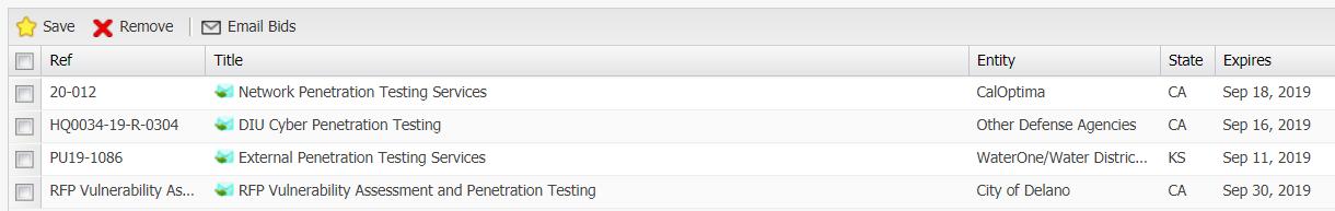 Penetration Testing RFPs